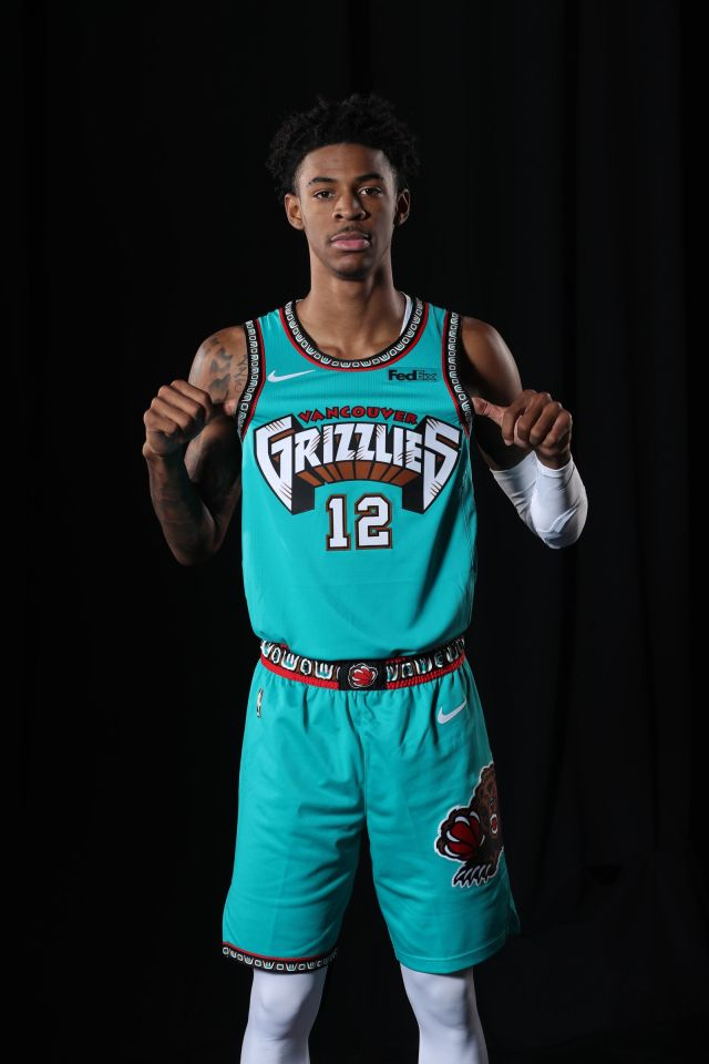 Memphis Grizzlies Portrait Shoot in Vancouver Uniform